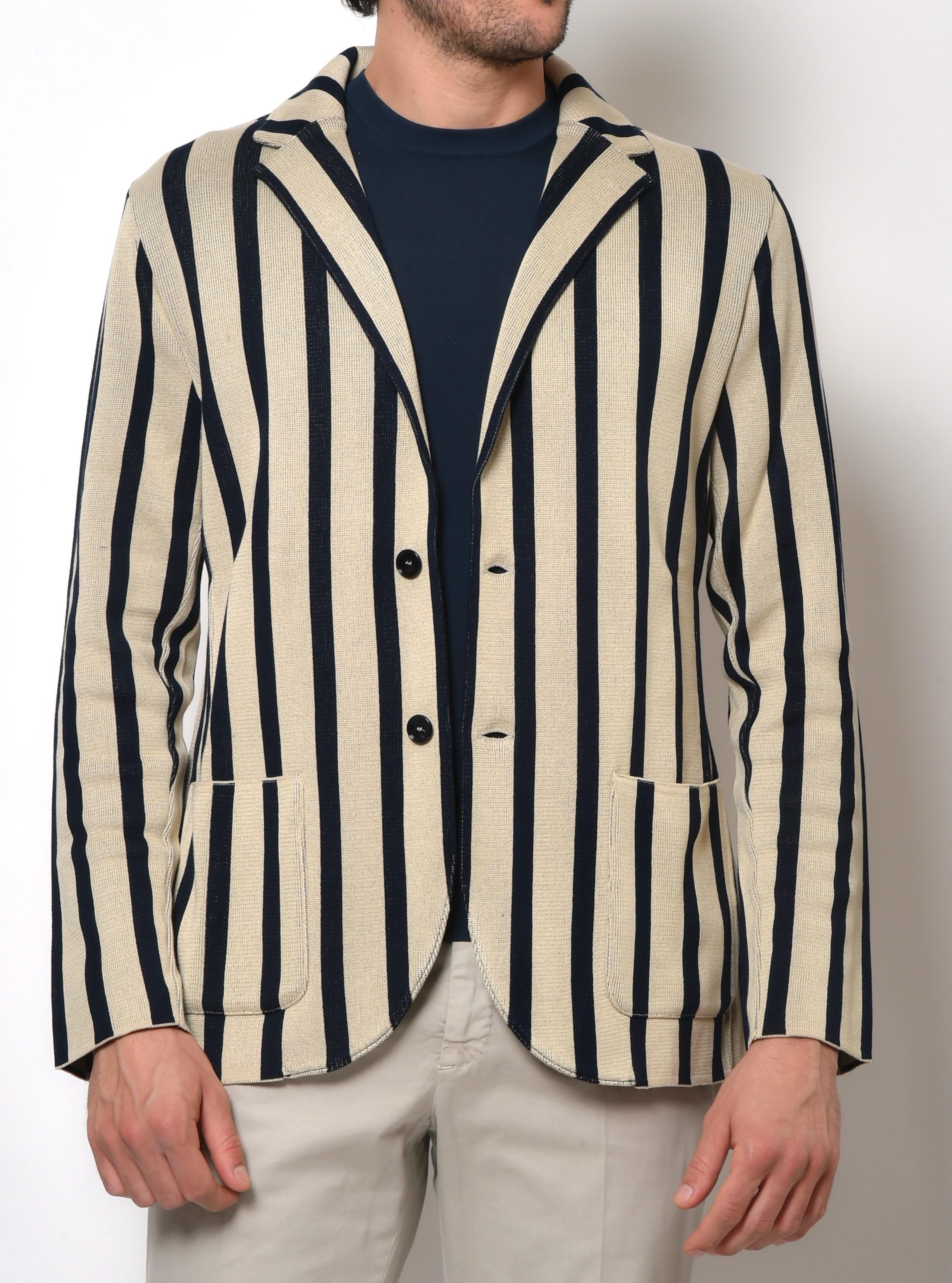 giacca maglia uomo con t-shirt
