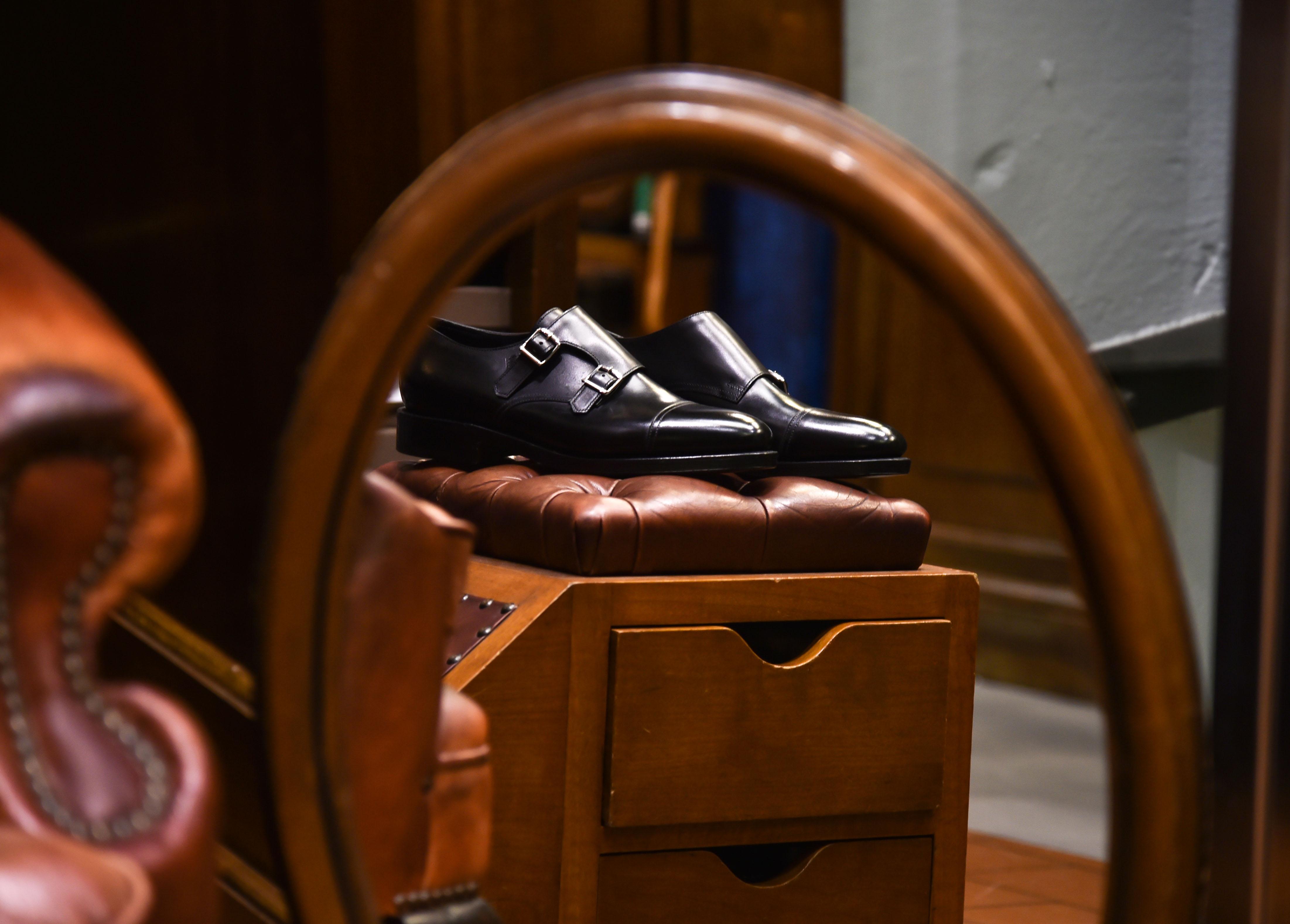 scarpe uomo pelle nere doppia fibbia