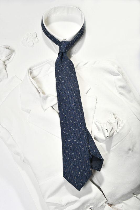blue silk printed tie man