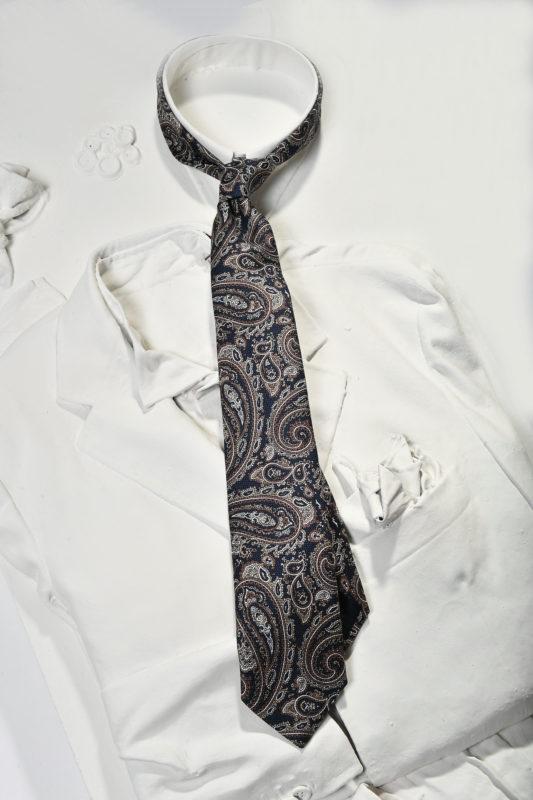 blue tie paisley pattern