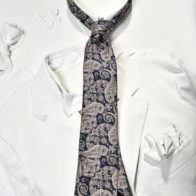 blu paisley silk tie
