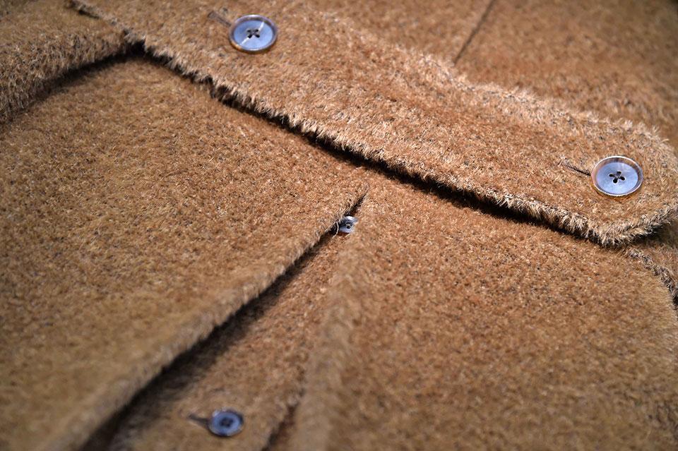 cappotto modello ulster color cammello