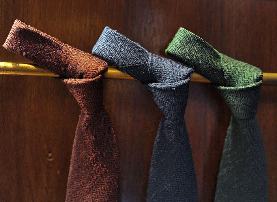 Close up cravatte autunno inverno  Eredi Chiarini