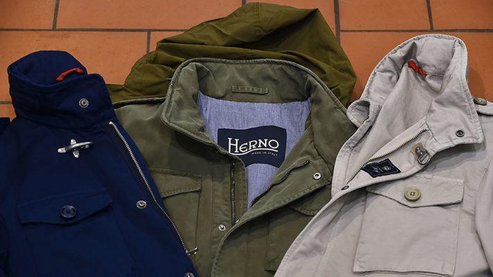 Field Jacket estiva Fay e Herno|Dettaglio Field Jacket estiva Fay beige|Dettaglio Field Jacket estiva Herno|Field Jacket estiva Herno