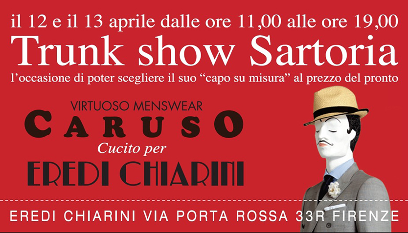 trunk show sartoria Caruso