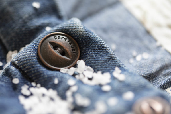 Care Label bottoni rame jeans