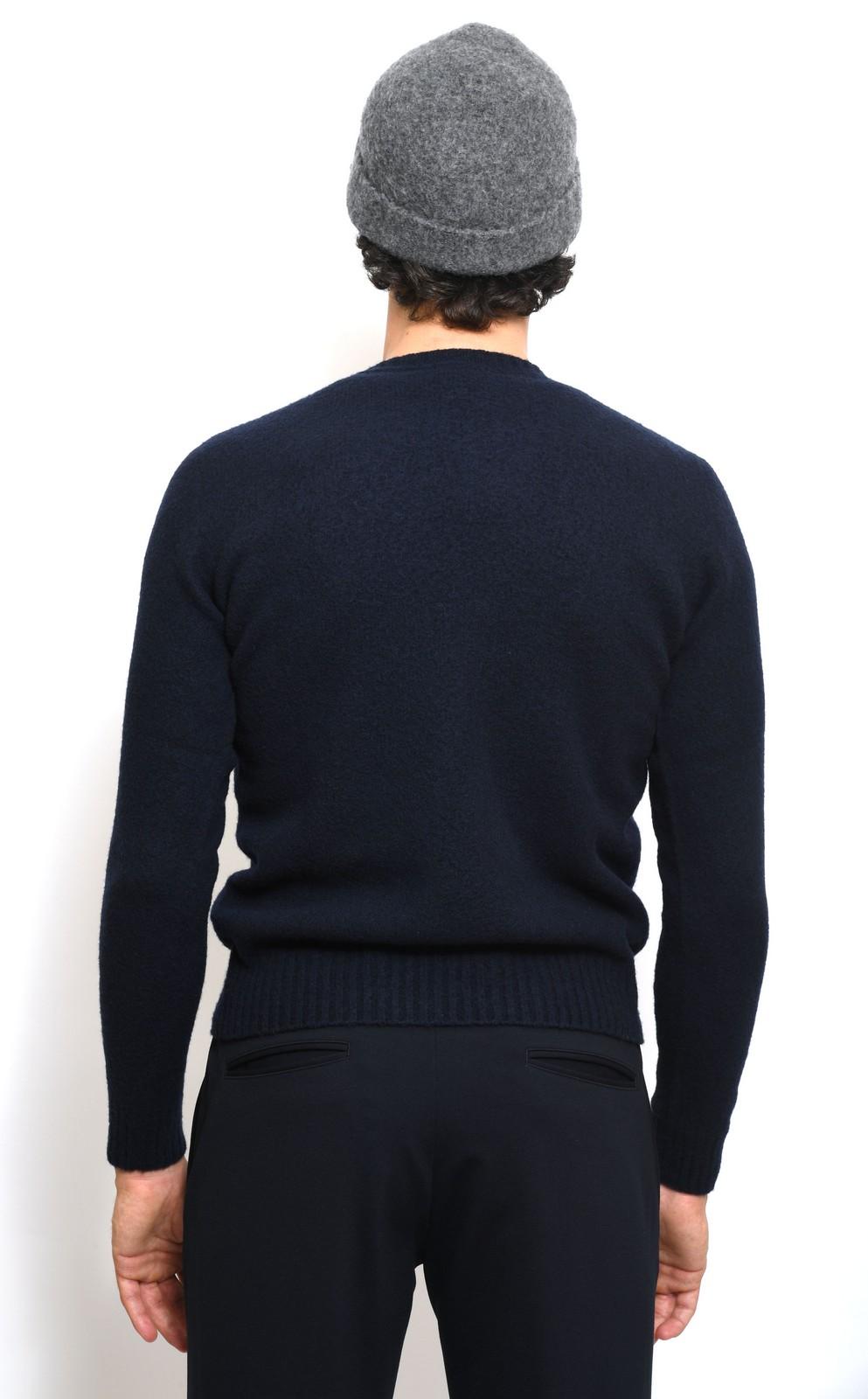 Drumohr maglia grattata navy