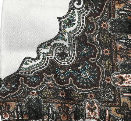 Fazzoletto da taschino seta motivo cachemire
