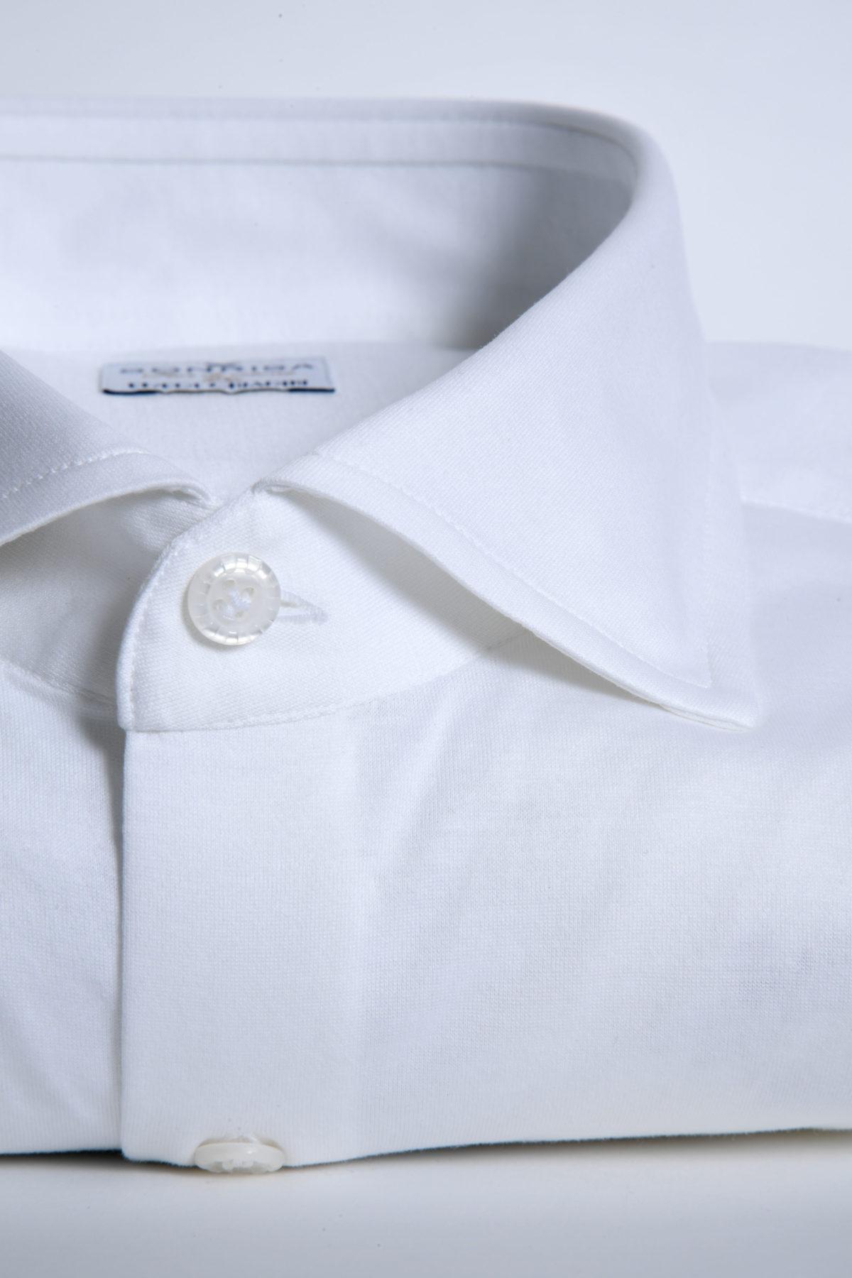 Sonrisa camicia jersey bianca