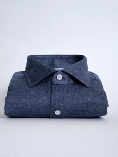 Sonrisa camicia jersey blu