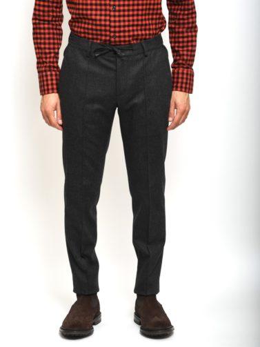eredi chiarini pantalone jogger grigio scuro