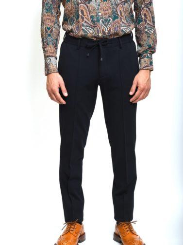 eredi chiarini pantalone jogger navy blu