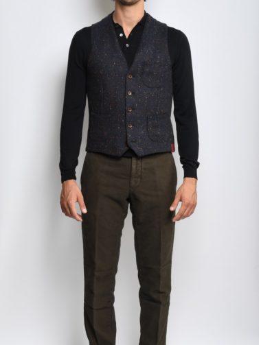 incotex pantalone raso marrone