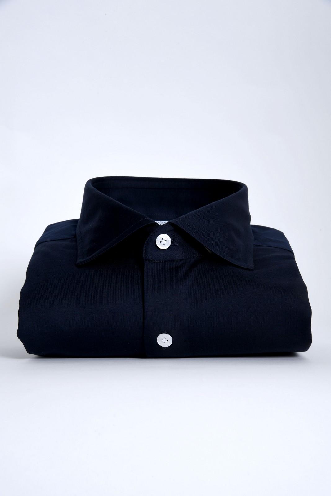 sonrisa camicia jeresy blu navy