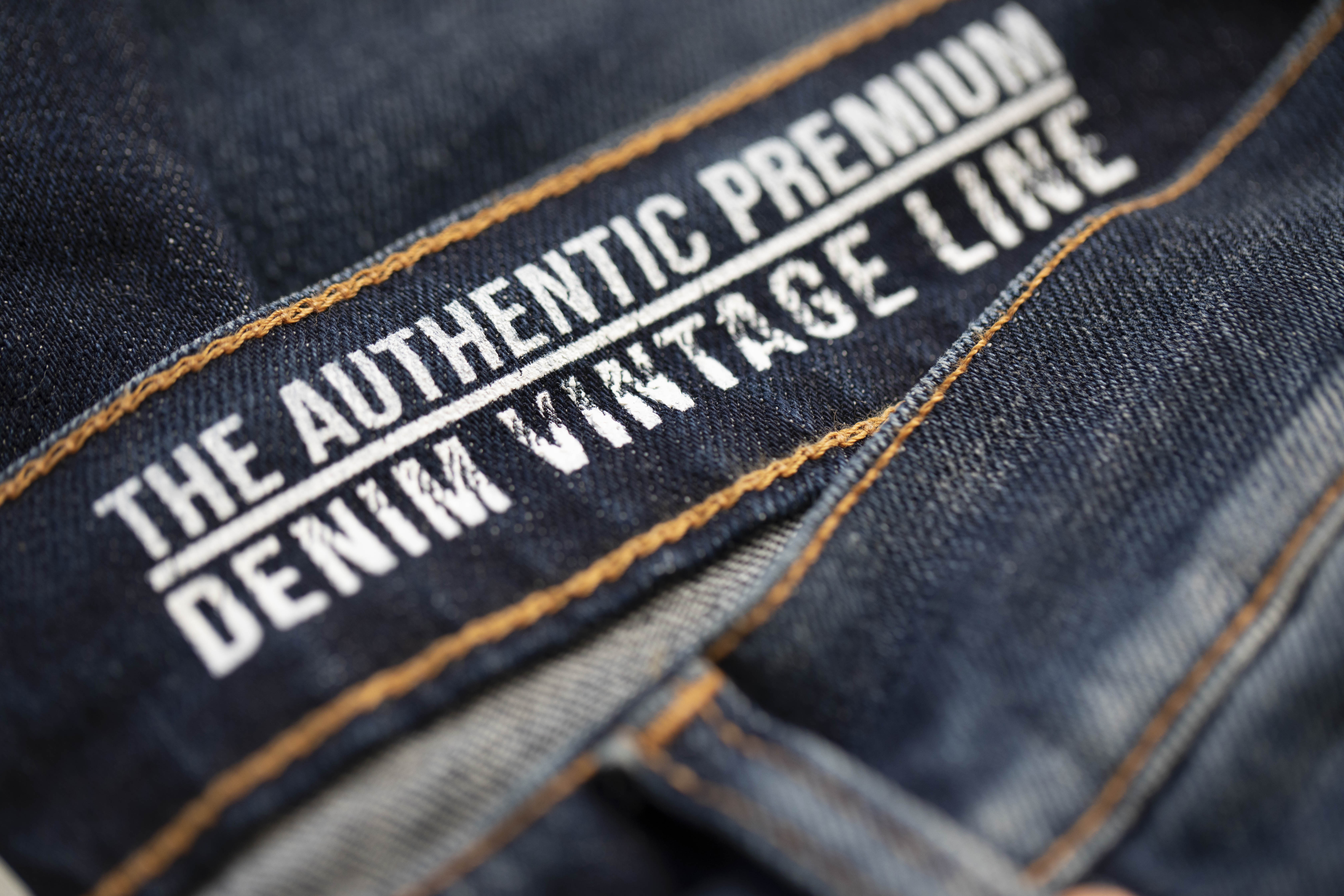 care label premium Italian denim