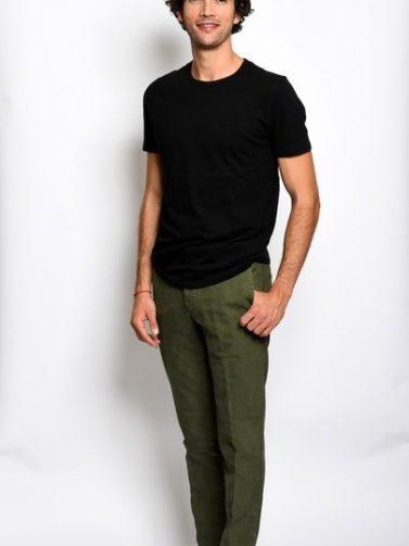 slack's raso cotone verde