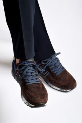 Premiata: sneaker blu e marroni