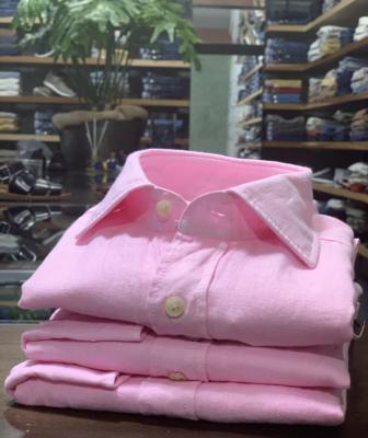 camicia rosa lino