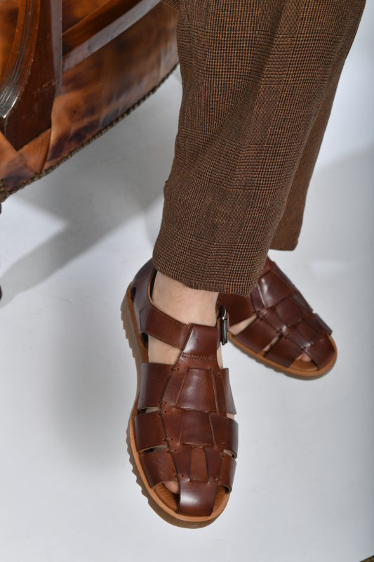 brown man sandals