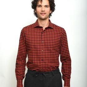 camicia uomo quadri rossi e neri