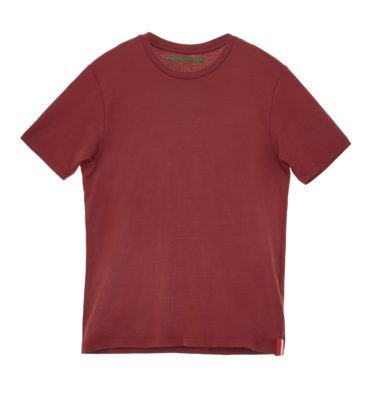 t-shirt hand picked cotone rossa