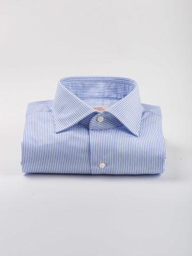 gherardi camicia riga celeste