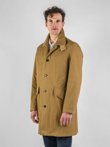 car coat caruso noce