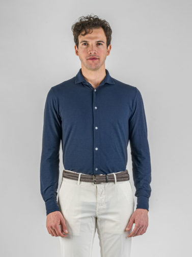 camicia zanone ice-cotton blu
