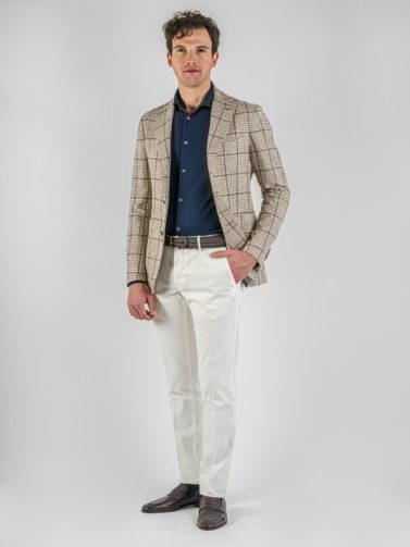 giacca tagliatore quadro beige