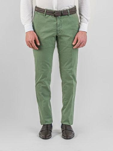 pantalone incotex slack's verde