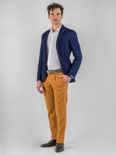 giacca lardini blu melange