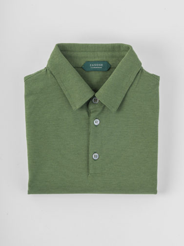polo zanone ice-cotton verde