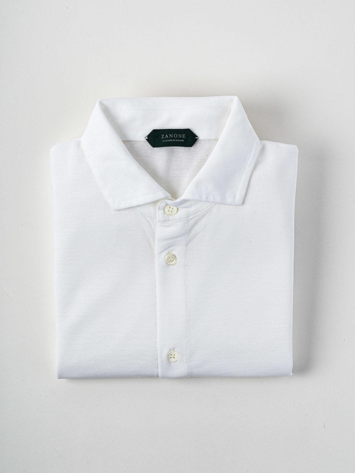 camicia zanone ice-cotton bianco