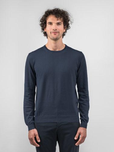 della ciana maglia cotone blu