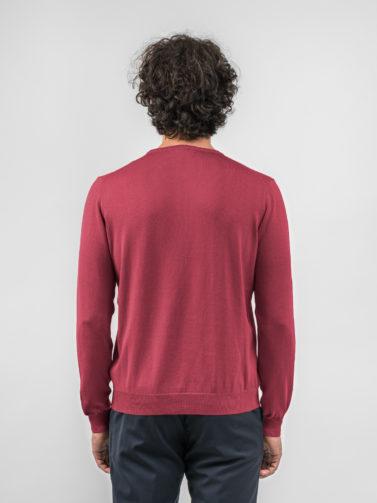 della ciana maglia cotone rubino
