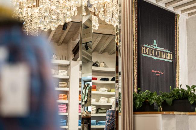 Il negozio Eredi Chairini - angolo dell'area casual