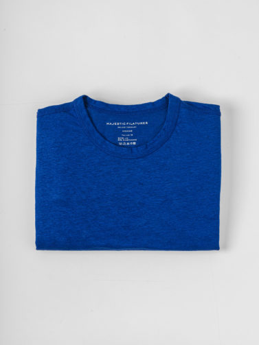 MAJESTIC T-SHIRT LINO ROYAL