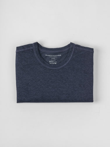 MAJESTIC T-SHIRT LINO NAVY