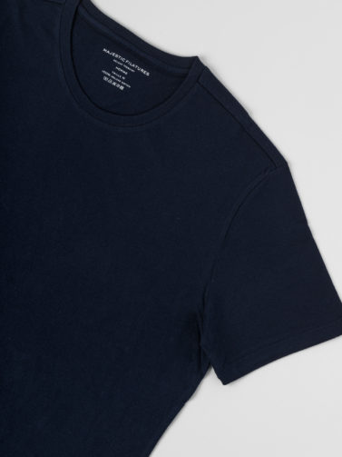 MAJESTIC T-SHIRT COTONE NAVY