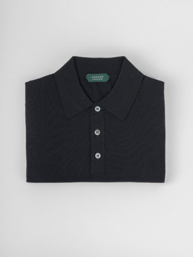 ZANONE POLO FLEXWOOL BLU