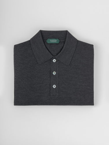 ZANONE POLO FLEXWOOL GRIGIO