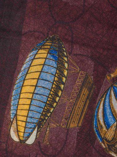 ANDREA'S SCIARPA BALLON BORDEAUX