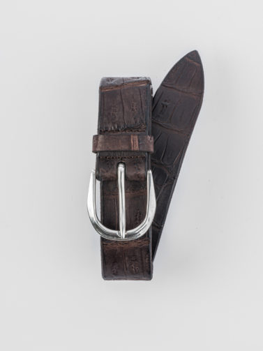 ORCIANI BROWN CROCODILE BELT
