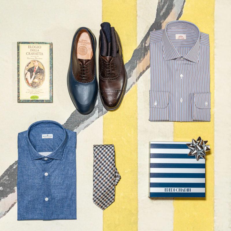 regali natale 2020 uomo classico camice scarpe cravatta
