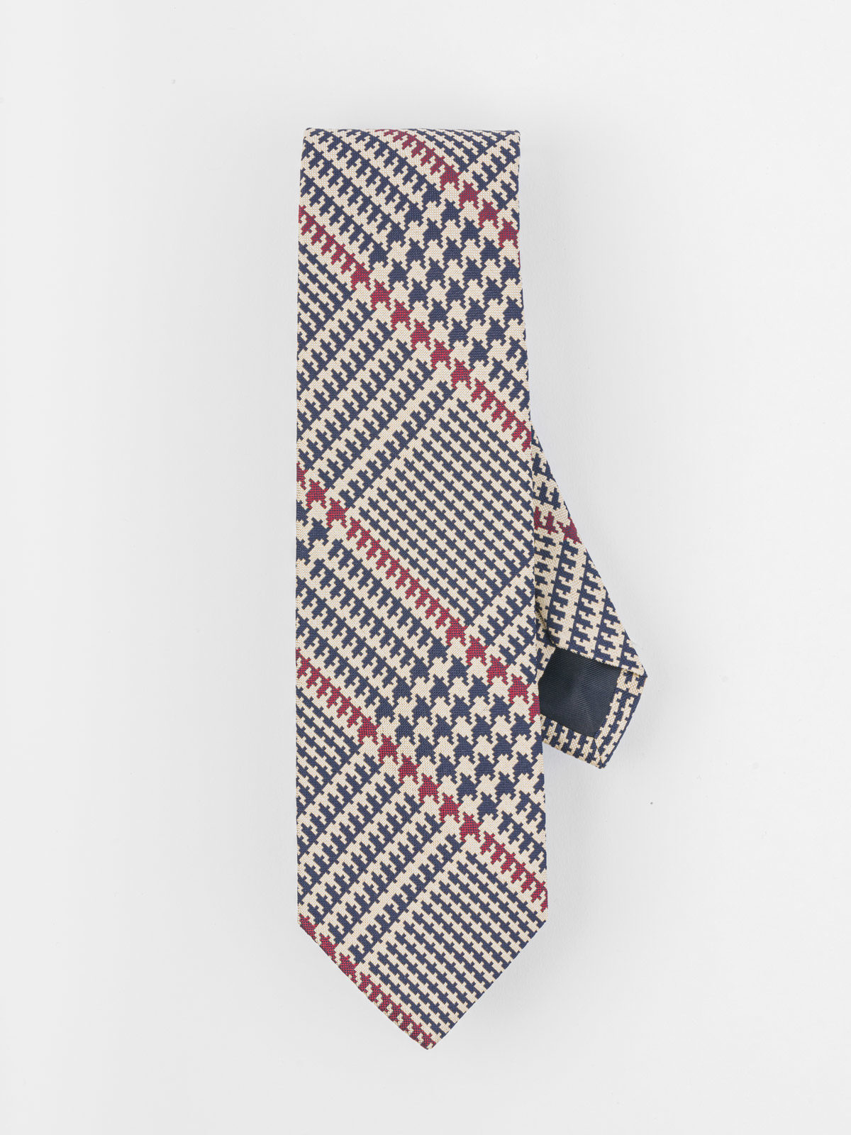 DRAKE'S BLU AND BORDEAUX TIE