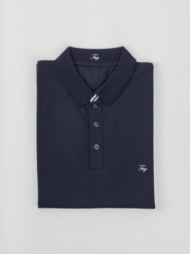 FAY POLO PIQUET NAVY