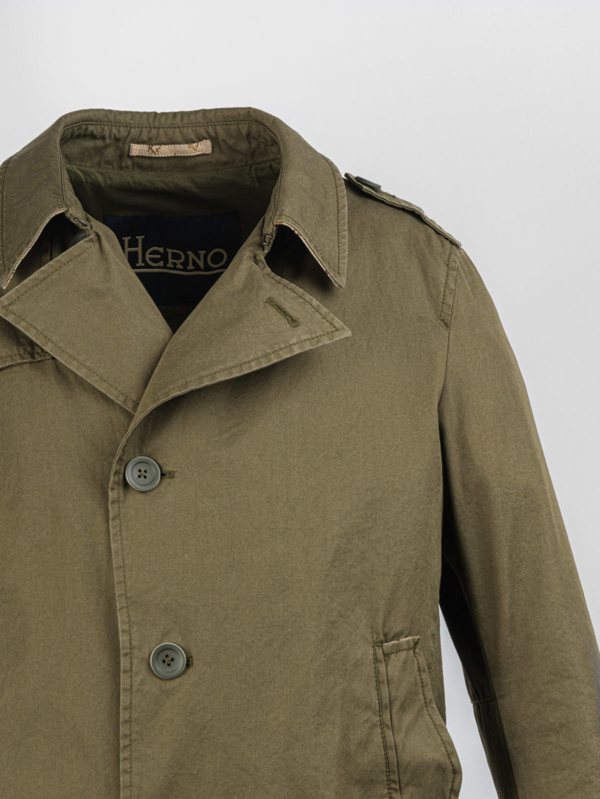 HERNO FLORENCE COTTON MILITARY TRENCH