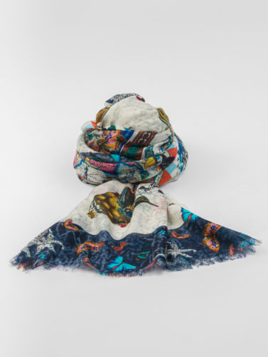 ANDREA'S WORLDIWANT BLUE SCARF