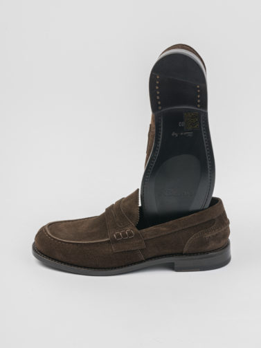 ORTIGNI FLORENCE BROWN SUEDE LOAFER