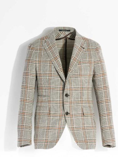TAGLIATORE FLORENCE BROWN AND BEIGE CHECK